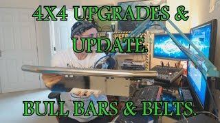 Toyota 4x4 update & upgrades. Bull Bars & Belts.