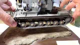 Building Tamiya Russian Army Tank Crew at Rest & Zvezda Model KV-2 Tank Diorama