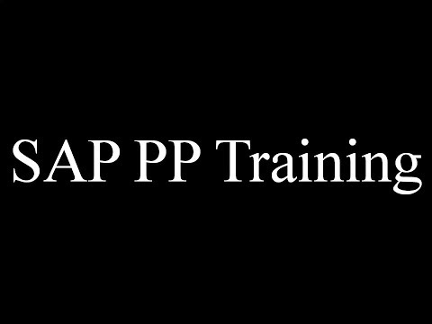 SAP PP Training - Scheduling (Video 22) | SAP PP Production ...