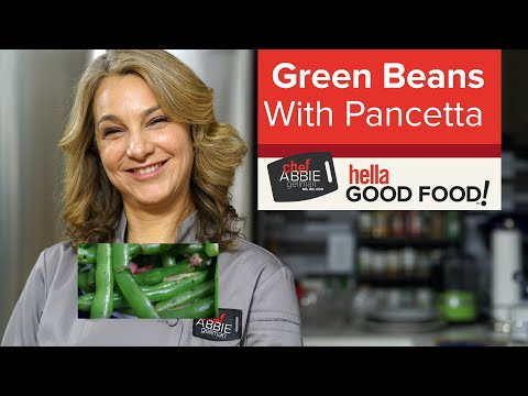 Green Beans with Pancetta
