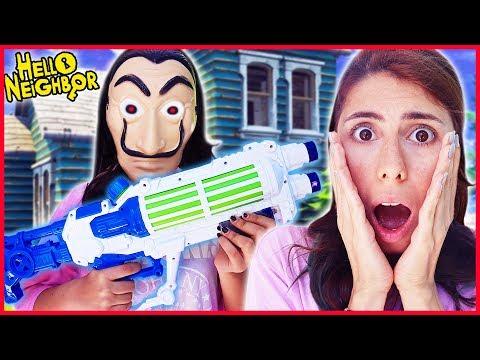 Gerçek Hayatta Hello Neighbor Komşu Kurtarma Eğlenceli Çocuk Videosu Dila Kent
