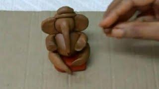 How To Make Ganesha With Clay //easy Ganesha Making At Home