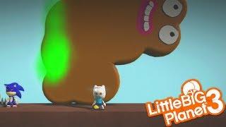 GIANT POOP IS AFTER SACKBOY | LittleBIGPlanet 3 Gameplay LBP 3 (Playstation 4)