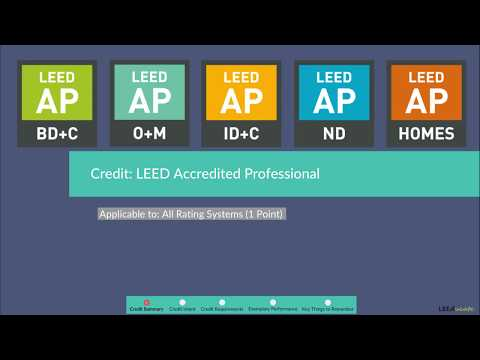LEED Credit: LEED Accredited Professional   LEED AP BD+C V4 ...
