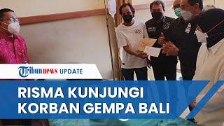 Mensos Risma Lakukan Kunjungan Kerja ke Dua Lokasi Terdampak Gempa Bali, Beri Bantuan dan Santunan