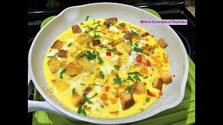 Омлет ЁЛОЧКА. Быстрый и Вкусный Завтрак для начинающих, беспроигрышный вариант..