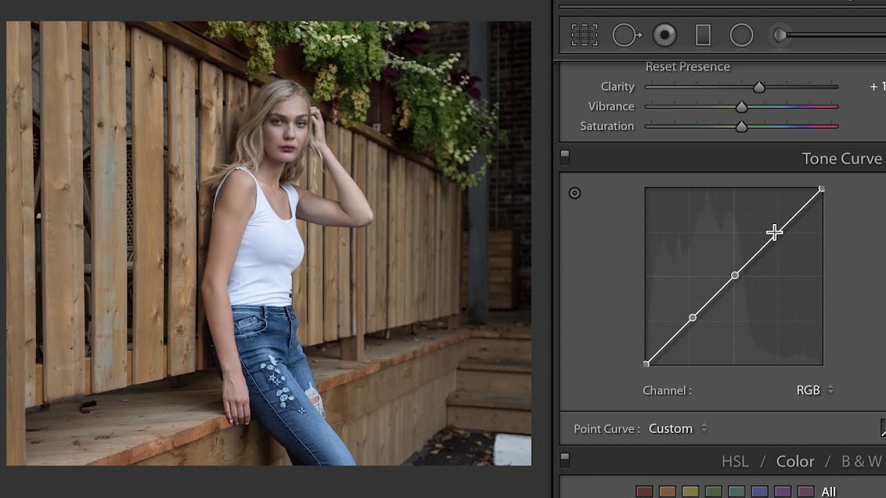 how to use tone curve in adobe lightroom by lucy martin