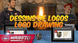 Shea Weber and Brendan Gallagher draw NHL logos