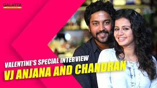 Valentine's Special interview - VJ Anjana and Chandran