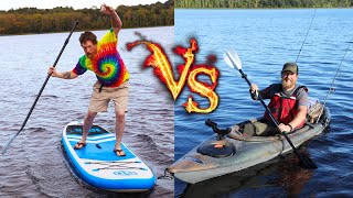 Kayak Vs Paddle Board,  Whats A Better Investment, Easier To Use, Fun And Good For Fishing!