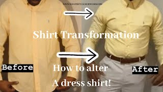 How To Alter A Dress Shirt | 4 SUPER EASY STEPS | DIY | Alterations