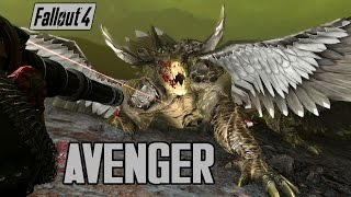 Fallout 4 - The Avenger & Winged Deathclaw Boss! - Weapon & Boss Mod - XB1 PC