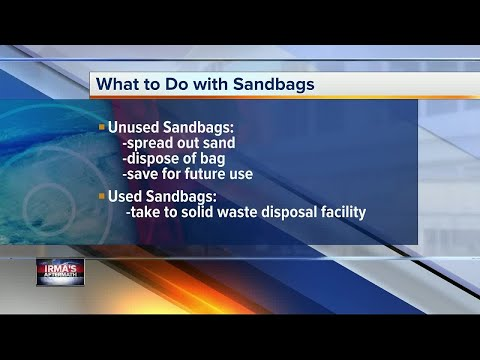 After Irma: What to do with extra sandbags