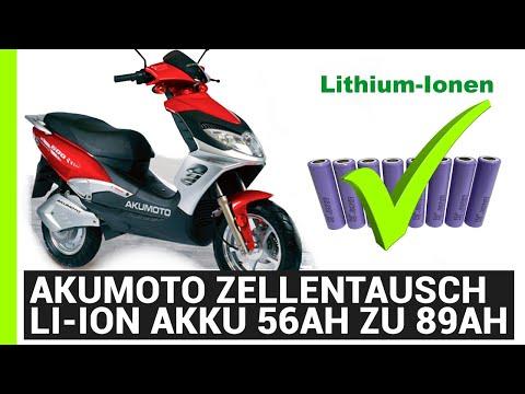 AkuMoto Akku 48V 89Ah 150A eRoller Akku DIY Umbau auf li-Ion Bluetooth BMS