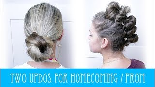 TWO CUTE UPDOS FOR HOMECOMING & PROM!!