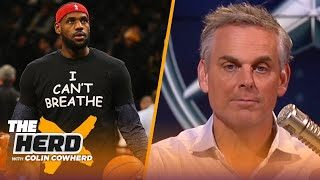 LeBron has always been more than just an athlete, Colin shares thoughts on protests | THE HERD