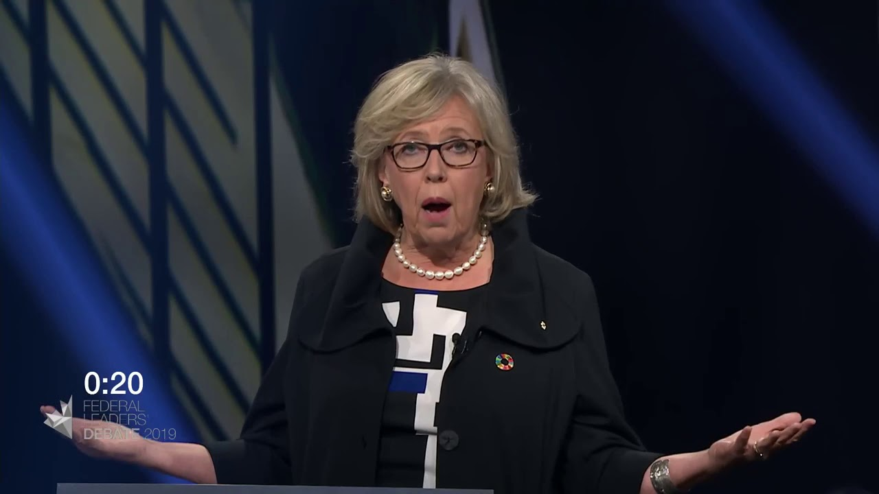 Elizabeth May answers a question about divisions within Canada