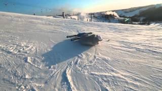 Поворот на горных лыжах