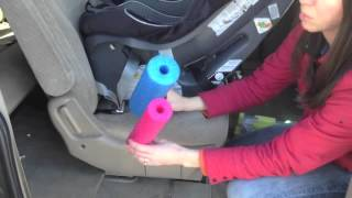Adjusting the angle on a rear-facing car seat