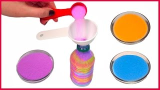 DIY How to Make a Colorful Bottle of Sand Art - Video Youtube
