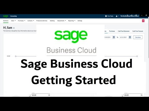 Sage Business Cloud Accounting - Tutorial - Getting Started #learnsage #sagebusinesscloud
