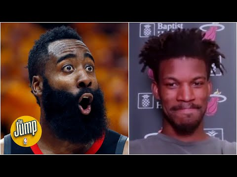 Jimmy Butler explains why he liked an IG post about James Harden's new trade preferences | The Jump