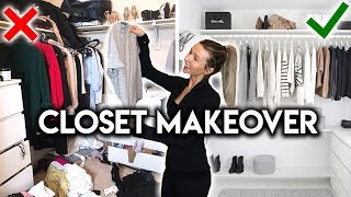 CLOSET ORGANIZATION **CLEAN WITH ME**
