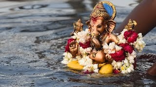 Bidding adieu to the elephant god, Ganesha
