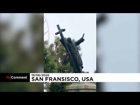 Το Σαν Φρανσίσκο «ξήλωσε» άγαλμα του Κολόμβου