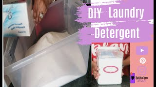 How To Make *Homemade Laundry Detergent*  Easy DIY!!!!