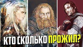 Возраст персонажей Властелина Колец и продолжительность жизни различных рас.