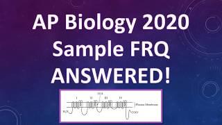 AP Biology FRQ 2020 Answered!