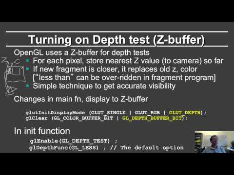 Online Graphics Couse OpenGL 2: Z Buffer
