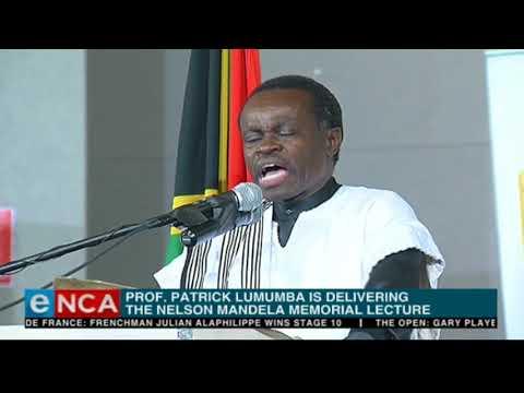 Prof Lumumba delivers Nelson Mandela memorial lecture