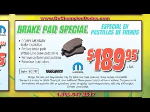 JEEP & DODGE SERVICE - Los Angeles, Cerritos, Downey CA - RAM - Parts & Repair Specials
