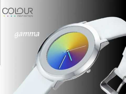 Gamma Watch With White Leather Band Video