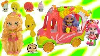 New Shoppies Pineapple Lily & Exclusive Season 5 Shopkins In Smoothie Combo Truck Car Toy Playset