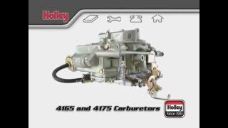 Holley 4165 & 4175 Carburetor Differences Spread Bore Overview Tutorial Universal Q-Jet Replacement