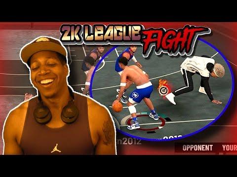 2K League Fight? / Play Shot Creator vs Shot Creating Playmaker  - NBA 2K19 3v3 Park