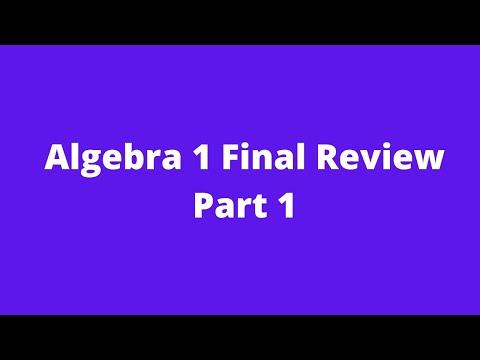 Algebra 1 Practice Final Exam (Jan. 2020 Regents Exam Review ...