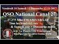 Dimanche 12 Novembre 2017 10H00 QSO National du canal 27