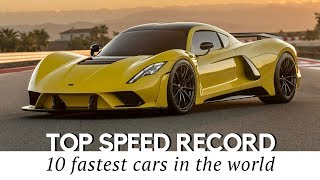 Hennessey Venom F5 to Top the List of 10 Fastest Cars in 2018