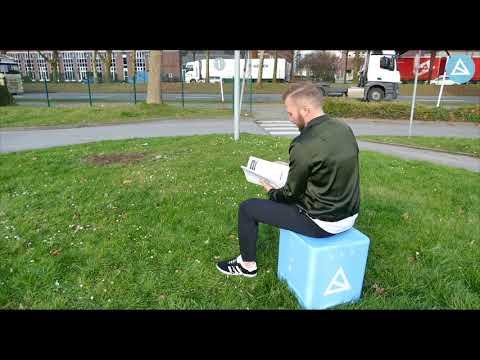 Flatcube - der erste Faltbare Sitzwürfel! Aufbauanleitung