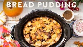 Pumpkin Pecan Bread Pudding with Crock-Pot® Slow Cooker - Honeysuckle