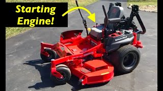 Beginner tutorial - Starting your Zero turn mower