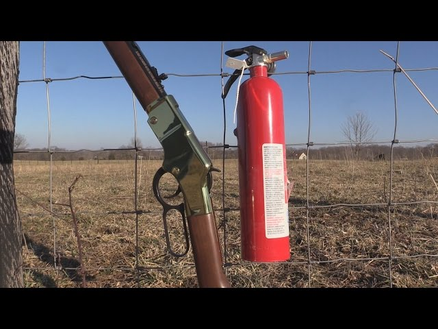 Will A .22lr Go Through a Charged Fire Extenguisher??