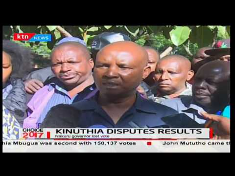 Kinuthia Mbugua disputes Jubilee gubernatorial results after Lee Kinyanjui was declared winner