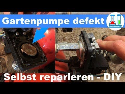 Gartenpumpe reparieren: Wasser läuft aus dem Druckschalter - Gehäuse des Hauswasserwerk deutsch