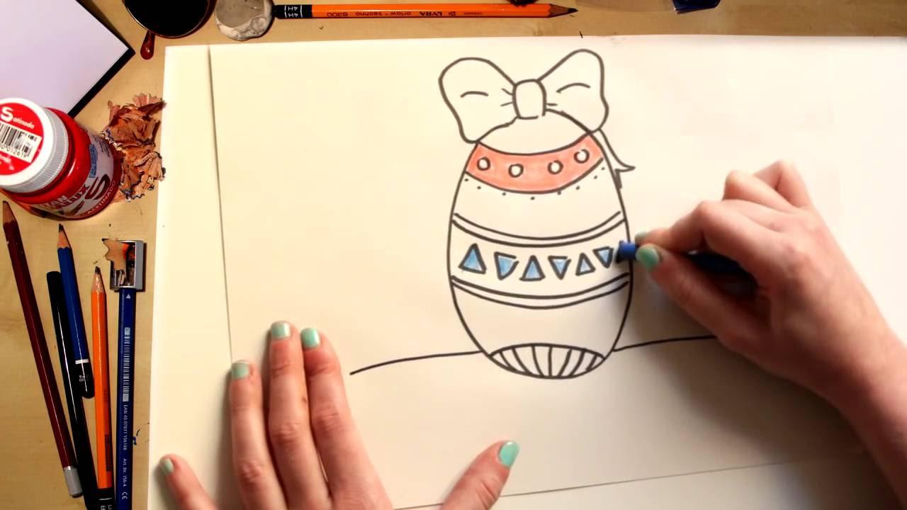Como desenhar um Ovo de Páscoa - desenhos para crianças