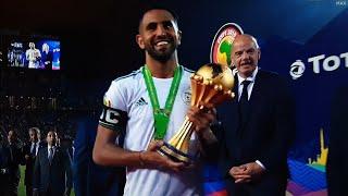 لحضة تتويج الجزائر بكأس إفريقيا2019